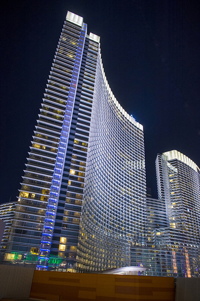 Indoor hiking is offered at Aria.