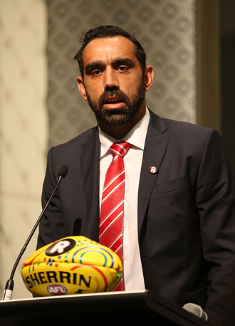 Adam Goodes has been a 'challenger' on the issue of racism. Photo: Getty