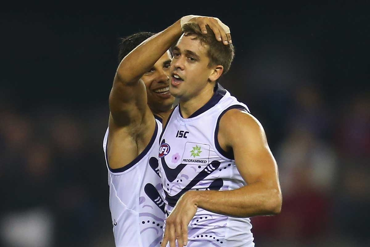 Stephen Hill was best afield with four goals for the Dockers.