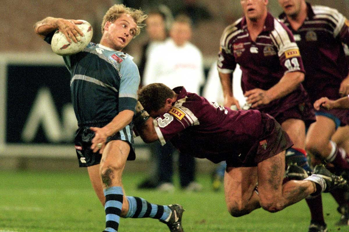 Geoff Toovey during the Origin match at the MCG in 1997.