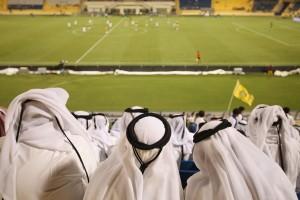 Football at the Al Gharafa Stadium in Qatar.