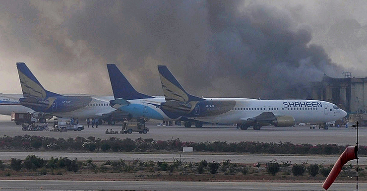 PAKISTAN-UNREST-KARACHI-AIRPORT