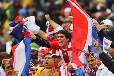 Paraguayan fans in 2010. Photo: Getty