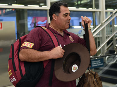 Pressure? What pressure? Mal Meninga arrives in Sydney on Sunday. Photo: Getty