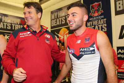 Paul Roos and match-winner Christian Salem. Photo: Getty