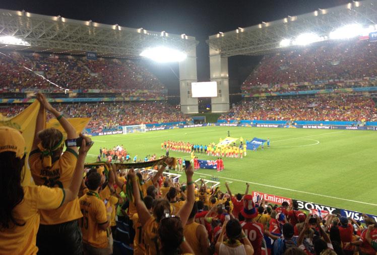 Socceroos' family members prepare for the big match, Photo: Elias Visontay