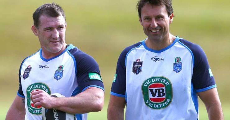 Paul Gallen and Laurie Daley