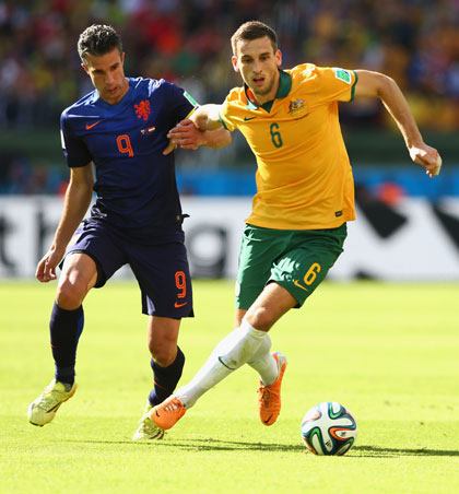 Matthew Spiranovic has been the rock of the Socceroos defence. Photo: Getty