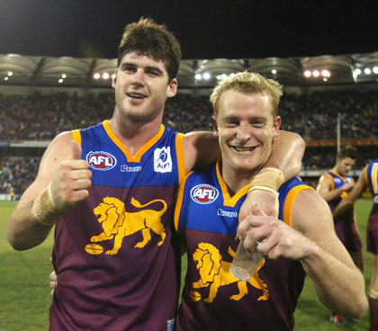 Glory days: with Michael Voss in 2004. Photo: Getty