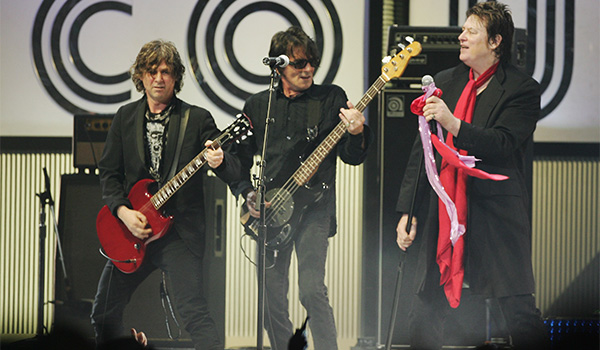 The Angels on stage at the Countdown Spectacular in 2007. Photo: Getty