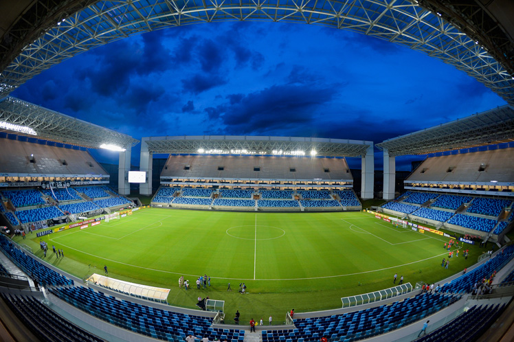 The Arena Pantanal stadium in Cuiaba, the capital of the western Brazilian state Mato Grosso state. Photo: Getty