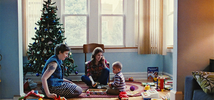 Girls' creator Lena Dunham and Anna Kendrick star in Happy Christmas. Photo: Supplied