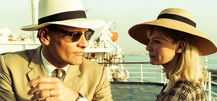 Viggo Mortensen and Kirsten Dunst star in the thriller The Two Faces of January. Photo: Supplied