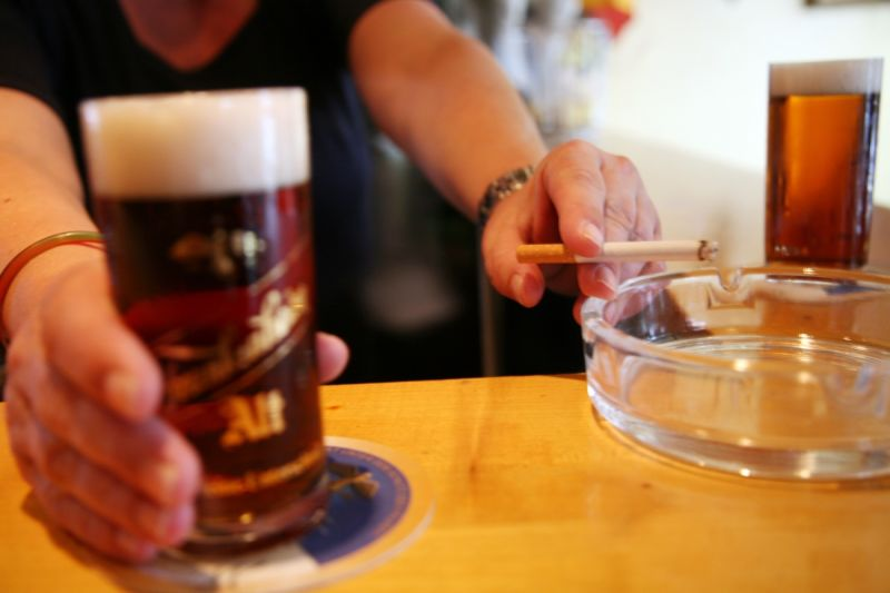 Smoking and drinking are less popular overall. Source: Getty.