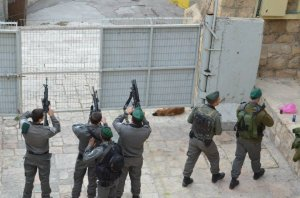 Israeli Defence Forces to a weapons check in Hebron, in the West Bank. Source: Armando Cordoba