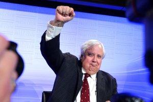 Clive Palmer fist pump