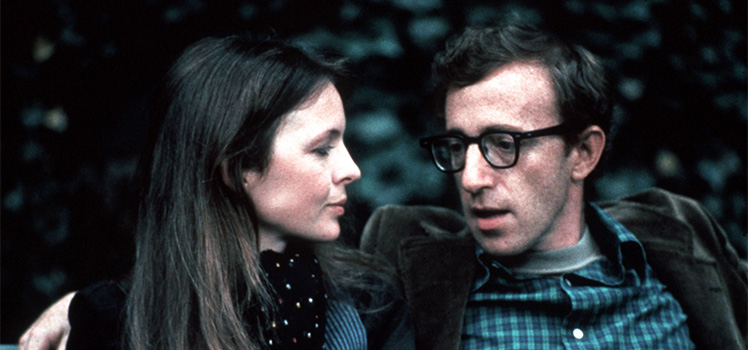 Annie Hall: Diane Keaton and Woody Allen. Photo: AAP