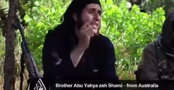 A man said to be an Australian on a jihad recruitment video.