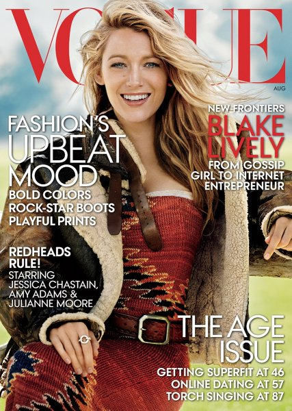 Lively's August Vogue cover