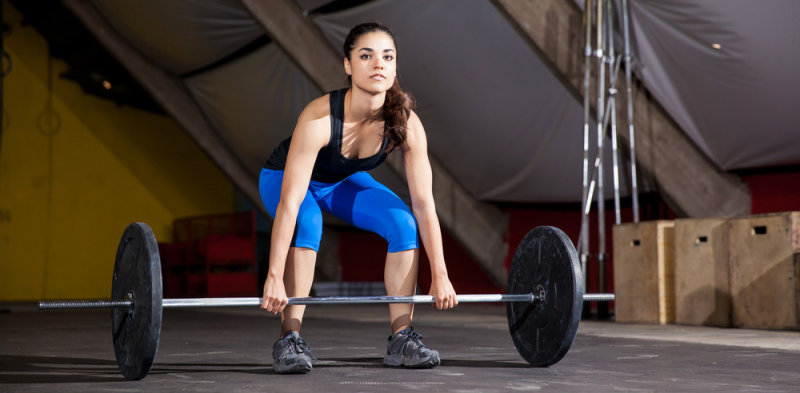 Deadlifts from the comfort of home. Source: Shutterstock.