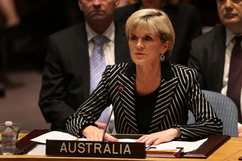 Julie Bishop speaks during a meeting of the United Nations Security Council in July, 2014. Photo: Getty