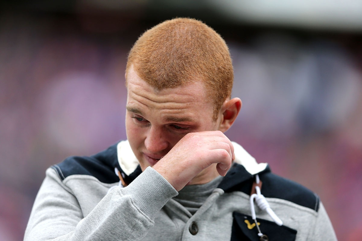 Alex McKinnon is overwhelmed by the reaction to his return to Hunter Stadium.