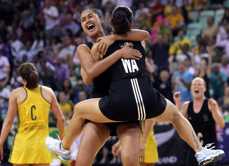 New Zealand claims the netball gold from Australia in Delhi. Photo: Getty