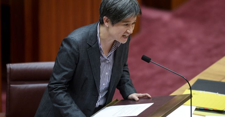 Penny Wong made an impassioned critique of Brian Taylor.