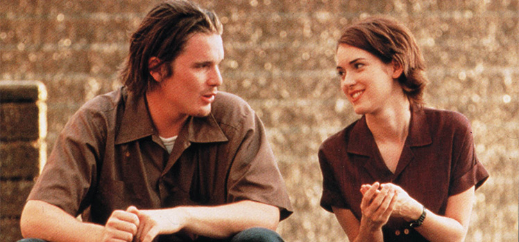 Reality Bites: Ethan Hawke and Winona Ryder. Photo: AAP