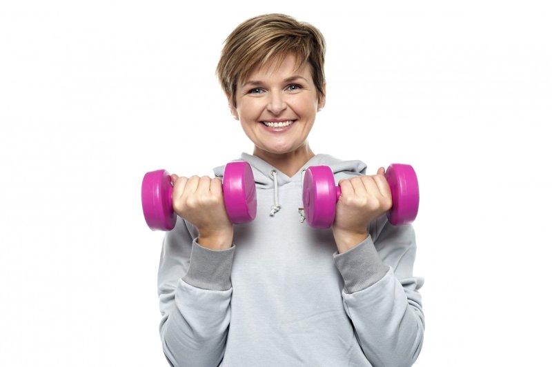 Dumbbells are versatile and relatively cheap. Source: Shutterstock