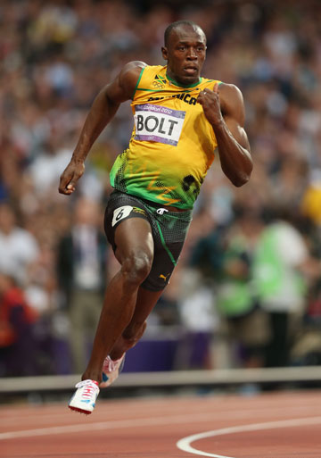 Usain Bolt is popping in for the relay. Photo: Getty