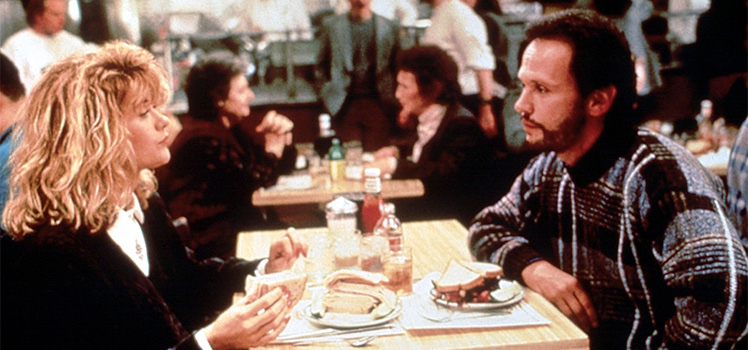 When Harry Met Sally: Meg  Ryan and Billy Crystal. Photo: AAP