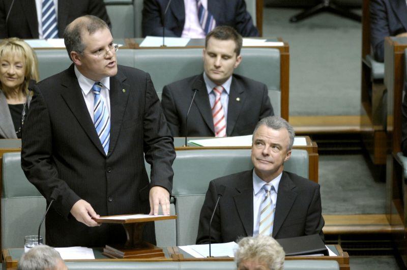 Scott Morrison's maiden speech in 2008. AAP