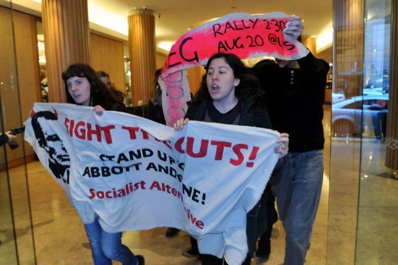Protestors.