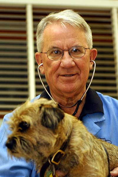 Victorian president of the RSPCA, Dr Hugh Wirth.