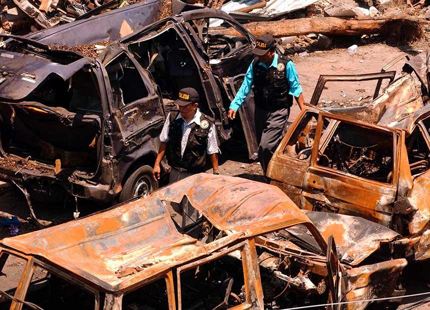 Bali Bombings aftermath.