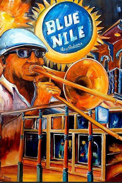 The buzzing Blue Nile.