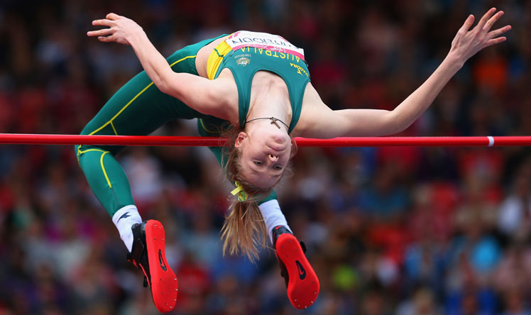 Eleanor Patterson won the high jump. Photo: Getty