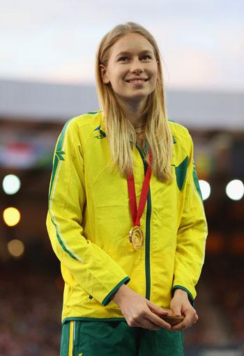 18--year-old high jump champion is an inspiration to Australian schoolgirls. Photo: Getty