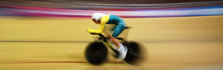Jack Bobridge during the individual pursuit final. Photo: Getty