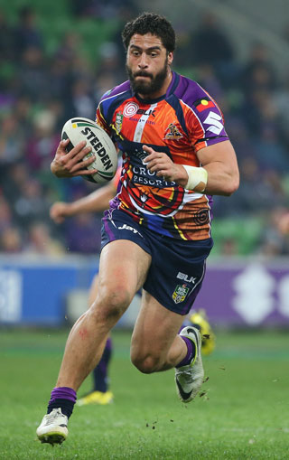 Jesse Bromwich of the Storm provided the highlight of the round. Photo: Getty
