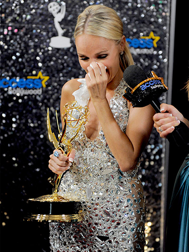 """Kristen XXX also can't believe she won an Emmy for Pushing Daisies. Photo"""" AAP"""