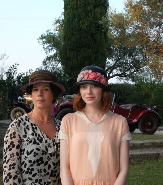 Marcia Gay Harden and Emma Stone as mother and daughter in 'Magic in the Moonlight'.
