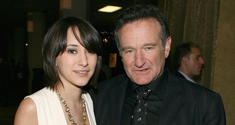 Robin Williams with daughter Zelda in 2007.