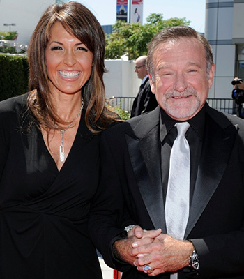 Robin Williams with wife Susan Schneider. Photo: AAP