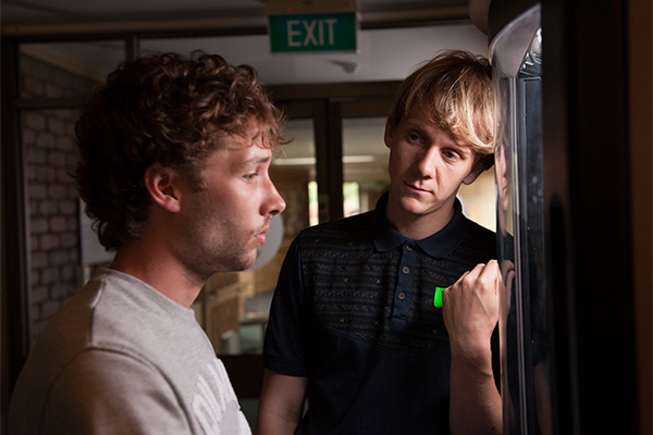 Keegan Joyce as Arnold with Josh Thomas as Josh in season two of Please Like Me. Photo: ABC