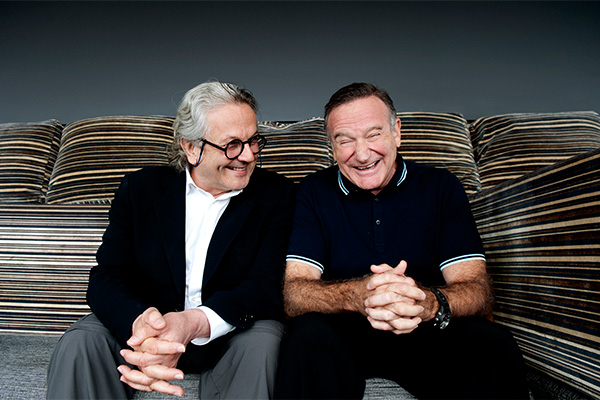 Happy Feet Two director George Miller and Williams in Sydney in 2011. Photo: AAP