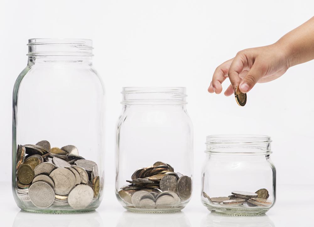 Jar of coins, money, saving