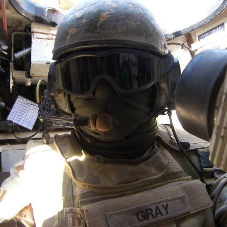 Aaron Gray in Iraq. Source: Supplied.