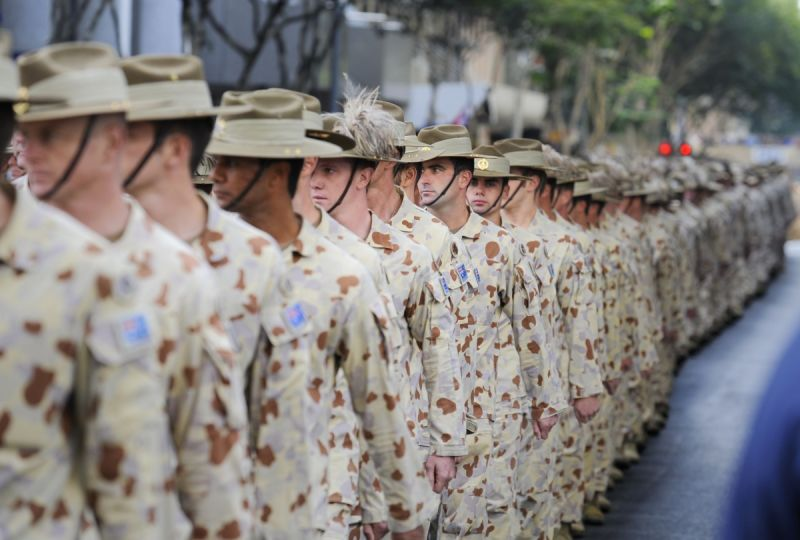 Iraq War veterans at a  welcome home march. Source: AAP.